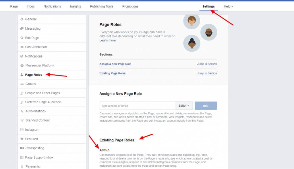update my facebook page new version
